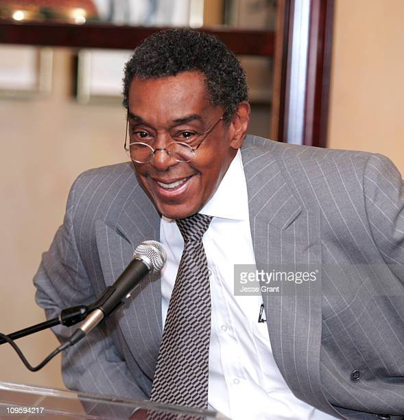 Don Cornelius during 10th Annual Lady of Soul Awards Nominations Press Conference at Spago in Beverly Hills California United States