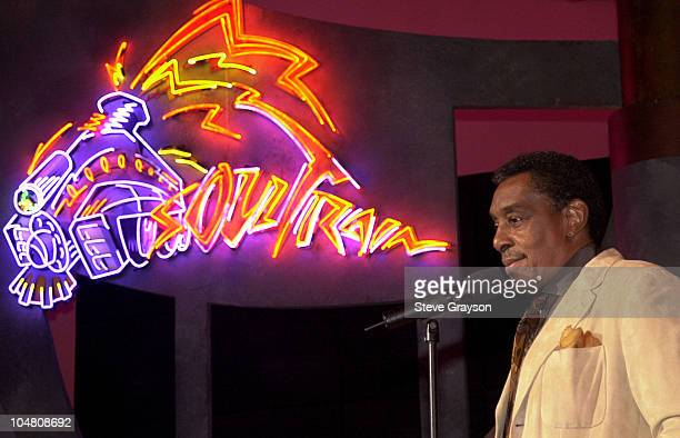Don Cornelius during 16th Annual Soul Train Music Awards Nominations at Paramount Studios in Los Angeles California United States