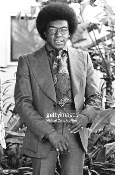 Don Cornelius host and producer of the TV show 'Soul Train' poses for a portrait on October 17 1973 in Los Angeles California