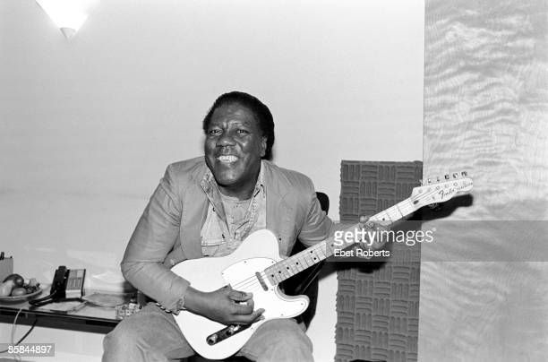 Don Covay at Krypton Studio in New York City recording with Paul Shaffer on April 29, 1988.