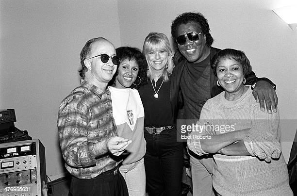 Don Covay, Ellie Greenwich, Darlene Love, Paul Shaffer and Mavis Staples at Krypton Studio in New York City recording with Paul Shaffer on November...