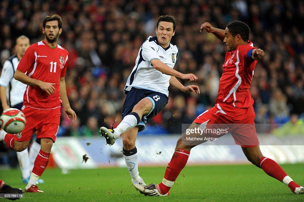 SOCCER - International Football Friendly - Wales v Scotland : News Photo