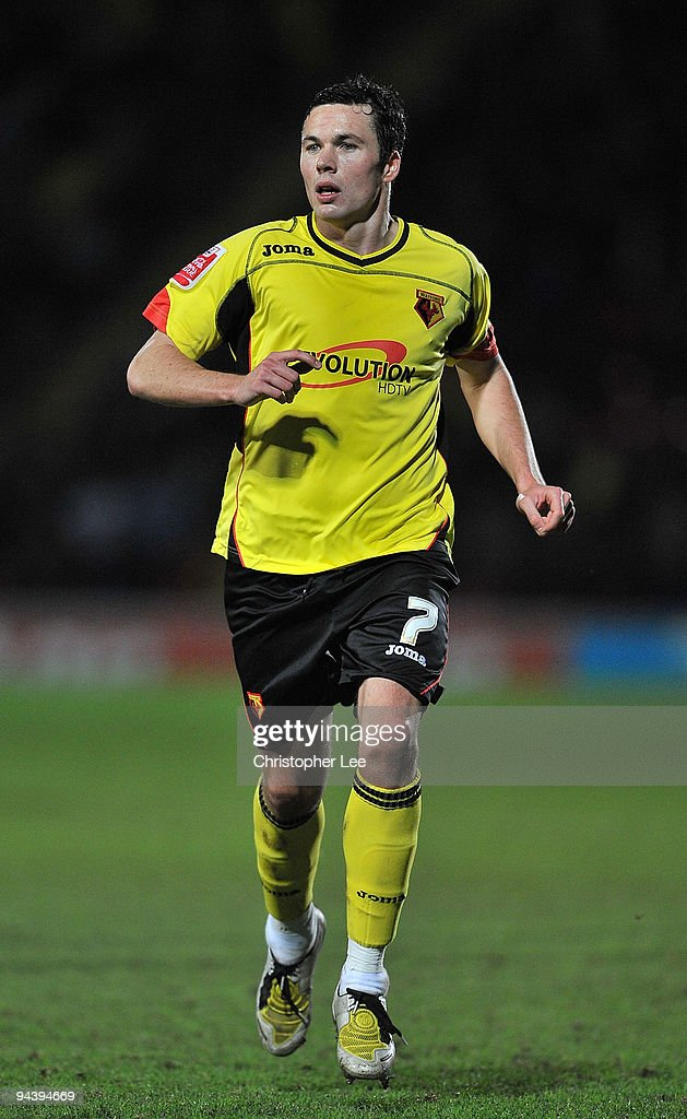 Don Cowie of Watford in action during the Coca-Cola Championship match between Watford and Derby County at Vicarage Road on December 12, 2009 in Watford, England.