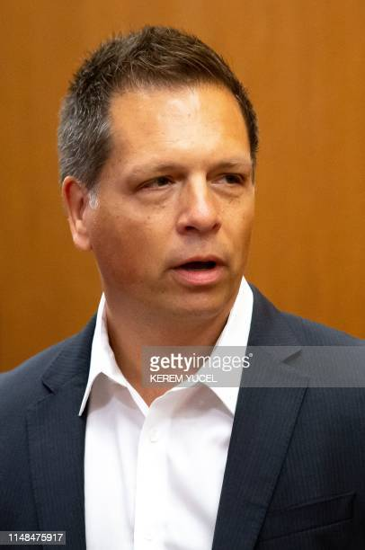 Don Damond fiance of Justine Damond enters Hennepin County District Court in Minneapolis Minnesota on June 7 2019 Former police officer Mohamed Noor...