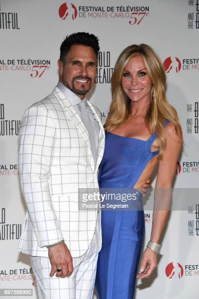 Don Diamont and Cindy Ambuehl attend the 'The Bold and The Beautiful' 30th Years anniversary during the 57th Monte Carlo TV Festival Day 3 on June 18...
