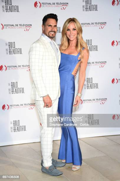 Don Diamont and Cindy Ambuehl attend the 'The Bold and The Beautiful' 30th Anniversary during the 57th Monte Carlo TV Festival Day 3 on June 18 2017...