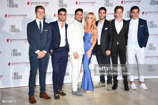 Don DiamontCindy Ambuehl and their sons attend the 'The Bold and The Beautiful' 30th Anniversary during the 57th Monte Carlo TV Festival Day 3 on...