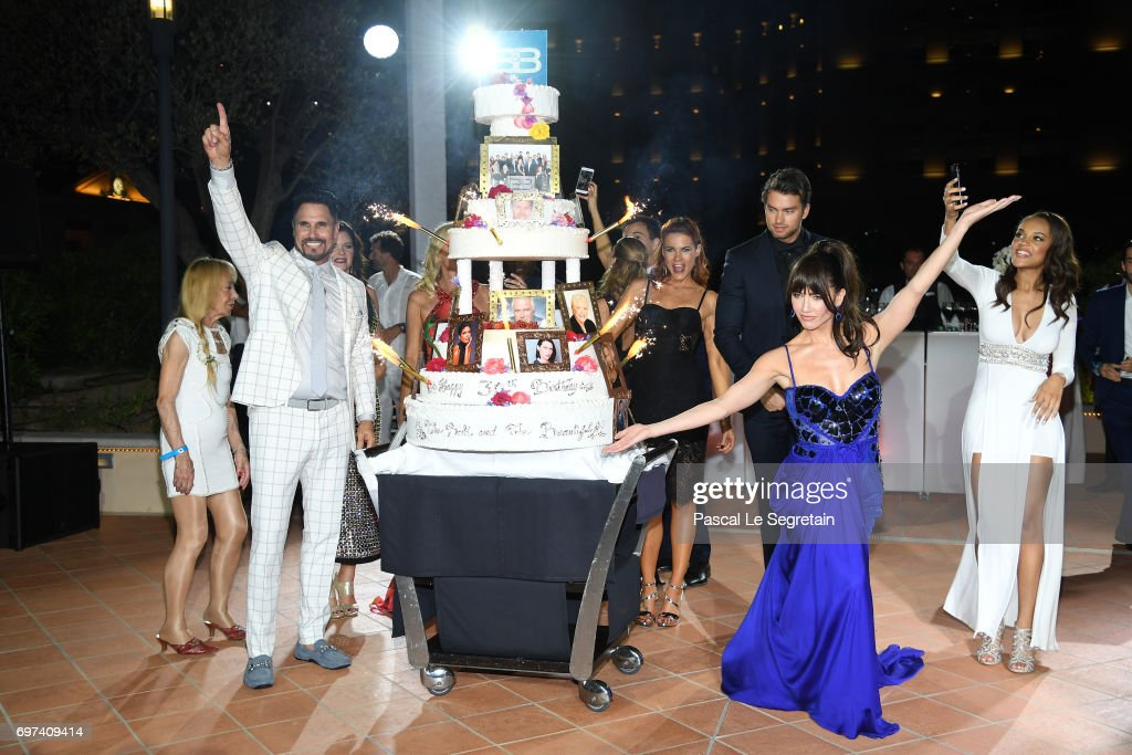 Don Diamont,Courtney Hope,Pierson Fode,Jacquelines MacInnes Wood and Reign Edwards attend the 'The Bold and The Beautiful' 30th Years anniversary during the 57th Monte Carlo TV Festival : Day 3 on June 18, 2017 in Monte-Carlo, Monaco.