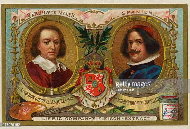 Don Diego Velasquez/ Diego Rodriguez de Silva y Velazquez and Bartolmeo Murillo/ Bartolome Esteban Murillo famous Spanish baroque artists Liebig card...