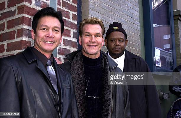 Don Duong Patrick Swayze and Forest Whitaker during Sundance Film Festival 2001 Green Dragon Portraits in Park City Utah United States
