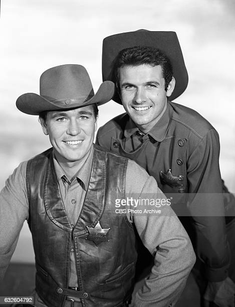 Don Durant as Johnny Ringo and Mark Goddard as deputy Cully star in the CBS western television program 'Johnny Ringo' Image dated July 24 Hollywood CA