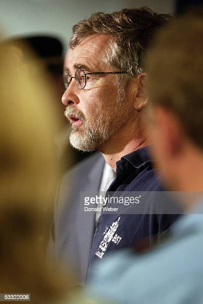 Don Enns of the Transportation Safety Board of Canada speaks to reporters during a news conference at Pearson International Airport August 3 2005 in...