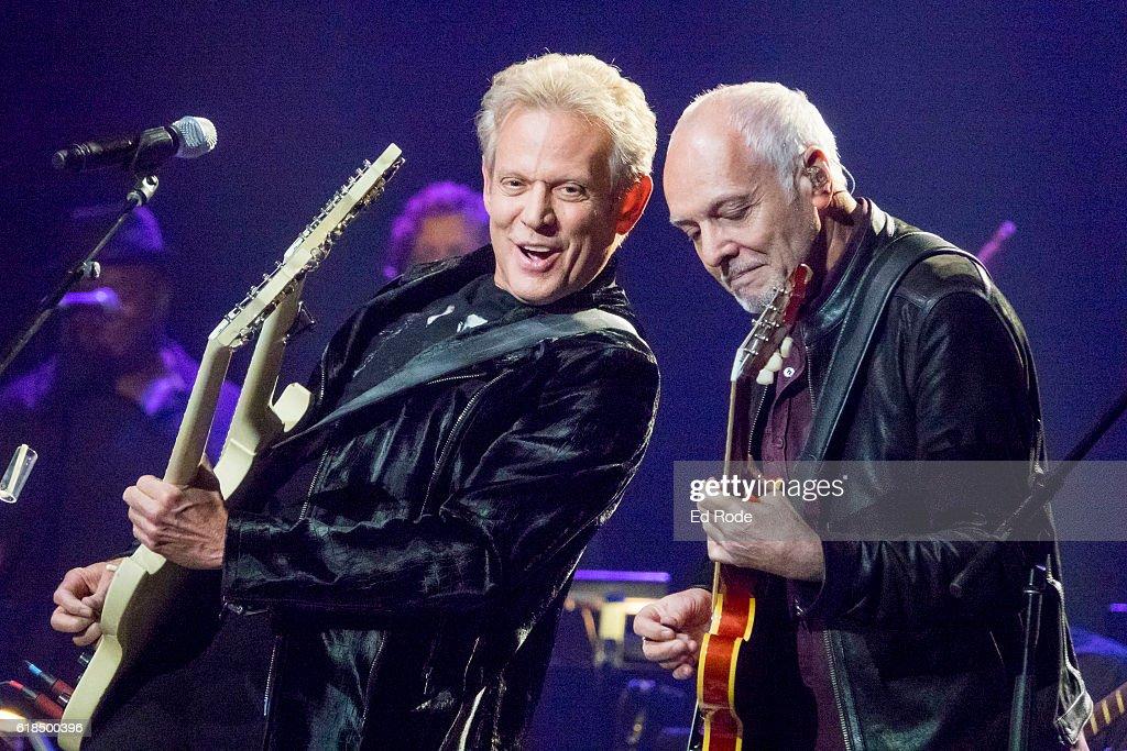 Don Felder and Peter Frampton perform at Nashville Municipal Auditorium on October 26, 2016 in Nashville, Tennessee.