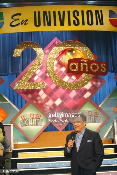 Don Francisco during 20-Year Anniversary Program of Sabado Gigante at Univision Studios in Miami, Florida, United States.
