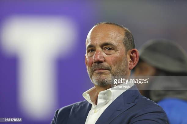 Don Garber, Commissioner of the Major League Soccer looks on during the 2019 MLS All-Star Game between MLS All Stars and Atletico de Madrid at...