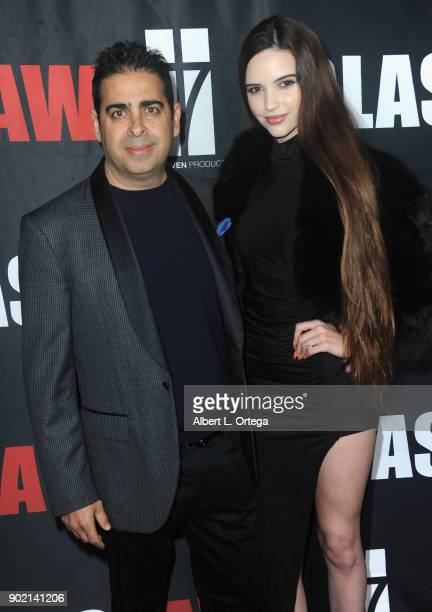 Don Gatsby and Kayla Gatsby arrive for the premiere of 'Glass Jaw' held at Universal Studios Hollywood on November 9 2017 in Universal City California