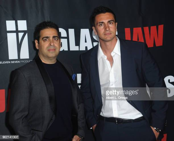 Don Gatsby and Lee Kholakai arrive for the premiere of 'Glass Jaw' held at Universal Studios Hollywood on November 9 2017 in Universal City California