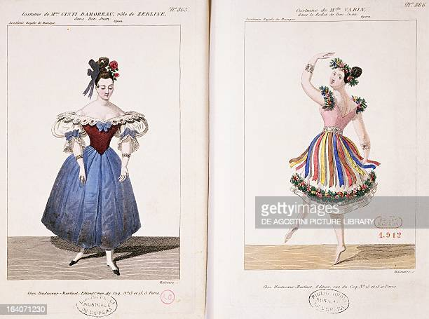 Don Giovanni costume sketch for Zerlina and the ballet from Don Giovanni opera in two acts by Wolfgang Amadeus Mozart Performed March 1834 at the...