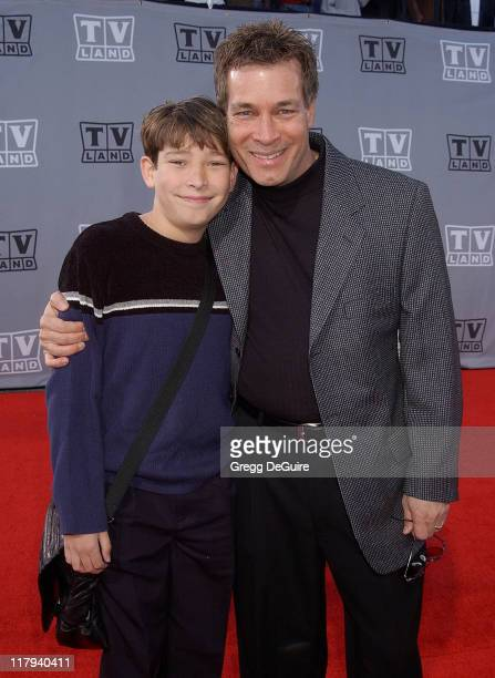 Don Grady and son Joey during TV Land Awards A Celebration of Classic TV Arrivals at Hollywood Palladium in Hollywood California United States