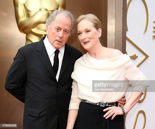 Don Gummer and Meryl Streep arrive at the 86th Annual Academy Awards at Hollywood Highland Center on March 2 2014 in Los Angeles California