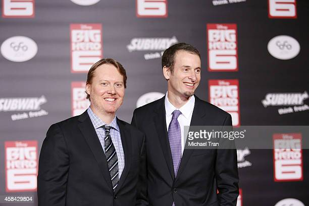 Don Hall and Chris Williams arrive at the Los Angeles premiere of Big Hero 6 held at the El Capitan Theatre on November 4 2014 in Hollywood California