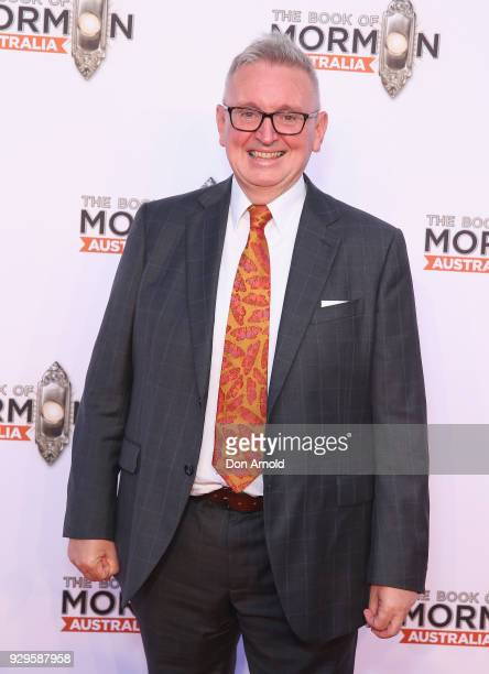 Don Harwin arrives ahead of The Book of Mormon opening night at the Lyric Theatre Star City on March 9 2018 in Sydney Australia