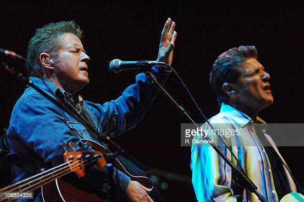 Don Henley and Glenn Frey during The Eagles in Concert at The Arena at Gwinnett Center March 10 2005 at Arena at Gwinnett Center in Duluth California...