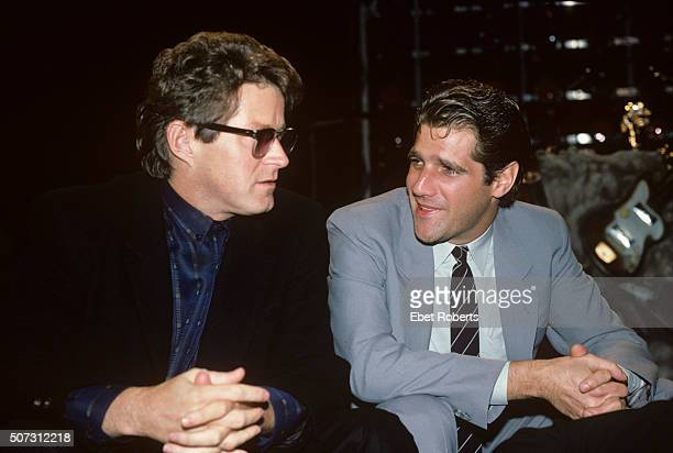 Don Henley and Glenn Frey of the Eagles at the MTV Awards at Radio City Music Hall in New York City on September 13, 1985.