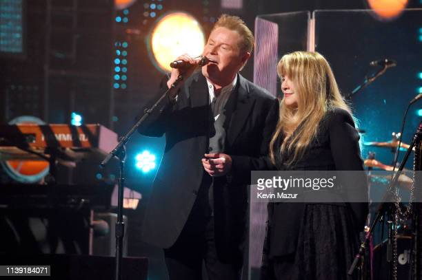 Don Henley and inductee Stevie Nicks perform at the 2019 Rock Roll Hall Of Fame Induction Ceremony Show at Barclays Center on March 29 2019 in New...