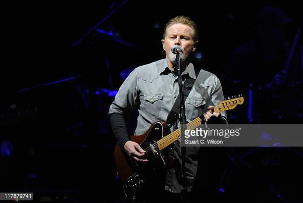 Don Henley from rock band 'The Eagles' performs at Hop Farm festival at The Hop Farm on July 1 2011 in Paddock Wood England