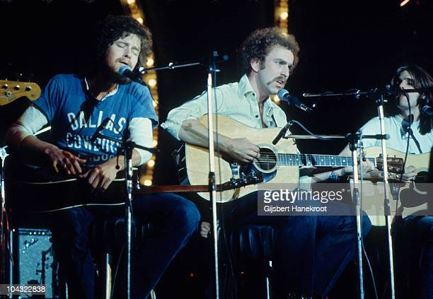 Don Henley Glenn Frey and Bernie Leadon of The Eagles perform on Popgala TV concert on 10th March 1973 in Voorburg Netherlands
