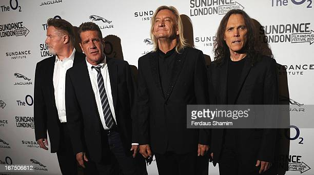 Don Henley, Glenn Frey, Joe Walsh, and Timothy B. Schmit attend the screening of 'History of The Eagles' as part of Sundance London at Cineworld 02...