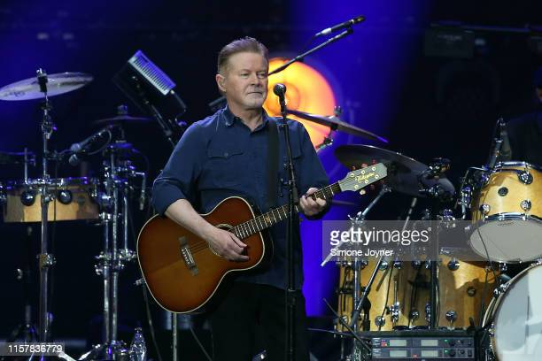 Don Henley of The Eagles perform live on stage at Wembley Stadium on June 23 2019 in London England