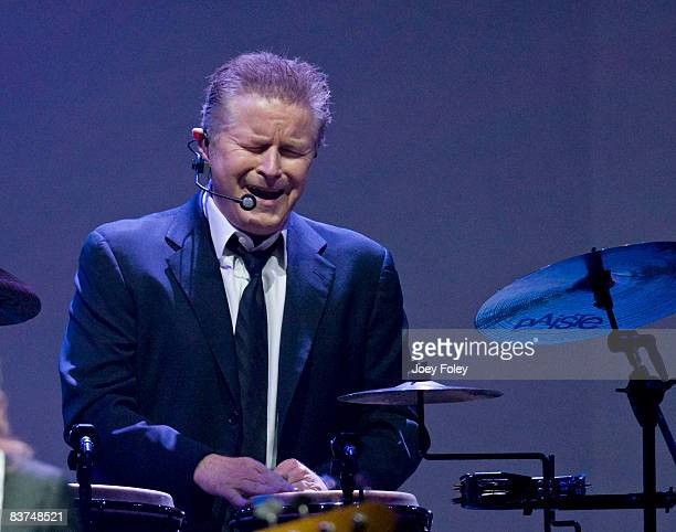 Don Henley of The Eagles perform live on the Long Road Out Of Eden Tour at U. S. Bank Arena on November 18, 2008 in Cincinnati, Ohio.