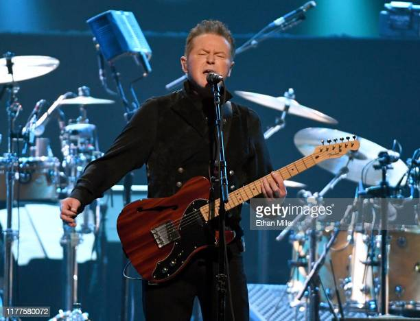 Don Henley of the Eagles performs at MGM Grand Garden Arena on September 27, 2019 in Las Vegas, Nevada.