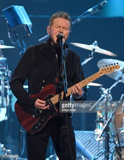 Don Henley of the Eagles performs at MGM Grand Garden Arena on September 27 2019 in Las Vegas Nevada