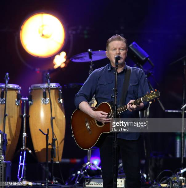 Don Henley of the Eagles performs at Wembley Stadium on June 23 2019 in London England