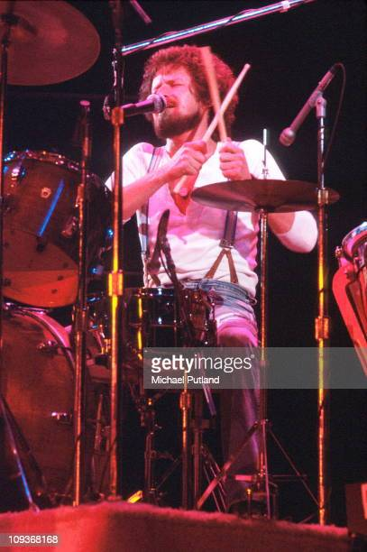 Don Henley of The Eagles performs on stage Wembley London 1977