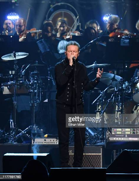 Don Henley of the Eagles performs with an orchestra at MGM Grand Garden Arena on September 27 2019 in Las Vegas Nevada