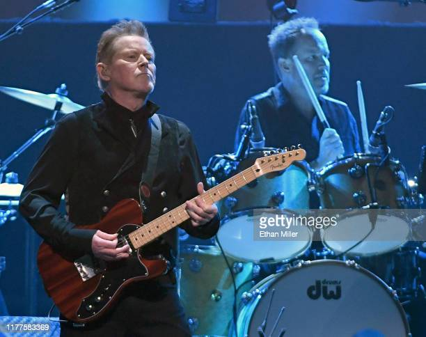 Don Henley of the Eagles performs with Scott F. Crago at MGM Grand Garden Arena on September 27, 2019 in Las Vegas, Nevada.