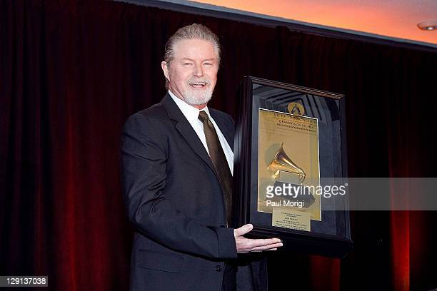 Don Henley receives the Recording Artists' Coalition Award at the GRAMMYs on the Hill Awards at Liaison Capitol Hill on April 14 2011 in Washington DC