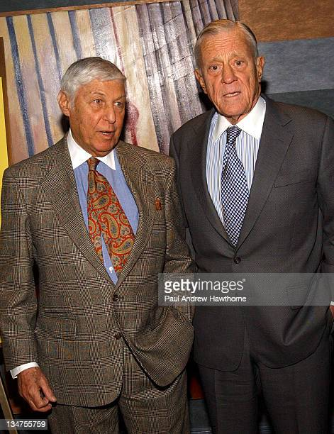 Don Hewitt and Ben Bradlee during 19th Annual Academy of the Arts Lifetime Achievement Awards Gala conducted by Guild Hall of East Hampton NY at The...