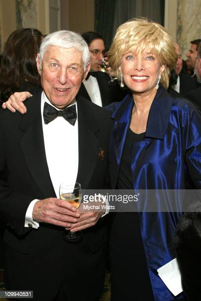 Don Hewitt and Lesley Stahl during Leslie Moonves Gold Medal Award Reception at Waldorf Astoria in New York City New York United States