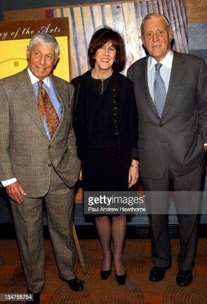 Don Hewitt Nora Ephron and Ben Bradlee during 19th Annual Academy of the Arts Lifetime Achievement Awards Gala conducted by Guild Hall of East...