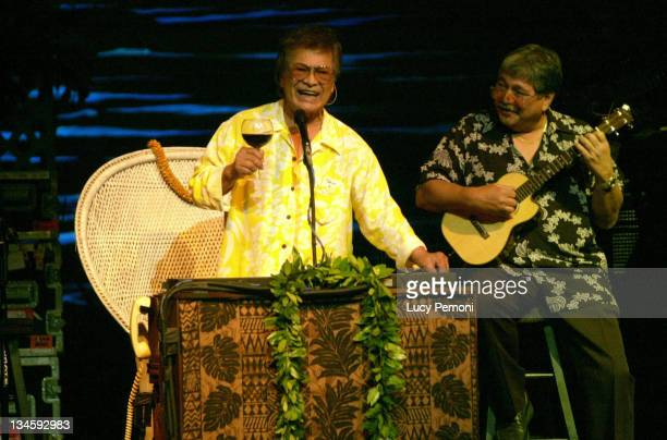 Don Ho and Benny Chong during Don Ho and Daughter Hoku at Hawaii Theater Gala April 25 2004 at Hawaii Theater in Honolulu Hawaii United States