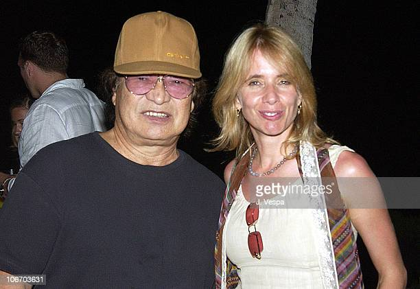 Don Ho and Rosanna Arquette during 2002 Maui Film Festival Shep Gordon Hosts Clint Eastwood's Silversword Award Party at Private Home in Maui Hawaii...