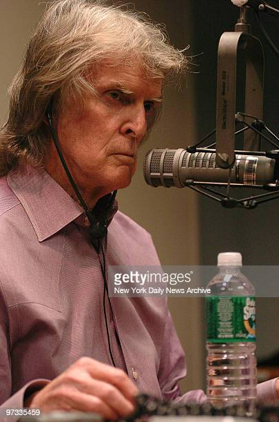 Don Imus appears on Reverend Al Sharpton's radio show at ABC studios to defend his racist remarks about the women's basketball team