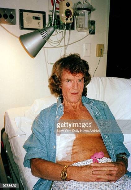 Don Imus in his hospital room at New York Hospital