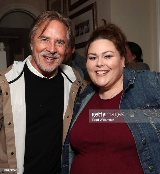 Don Johnson and Chrissy Metz attend a party for the 20th Anniversary of the Savannah Film Festival hosted by CAA Agent Tracy Brennan and presented by...