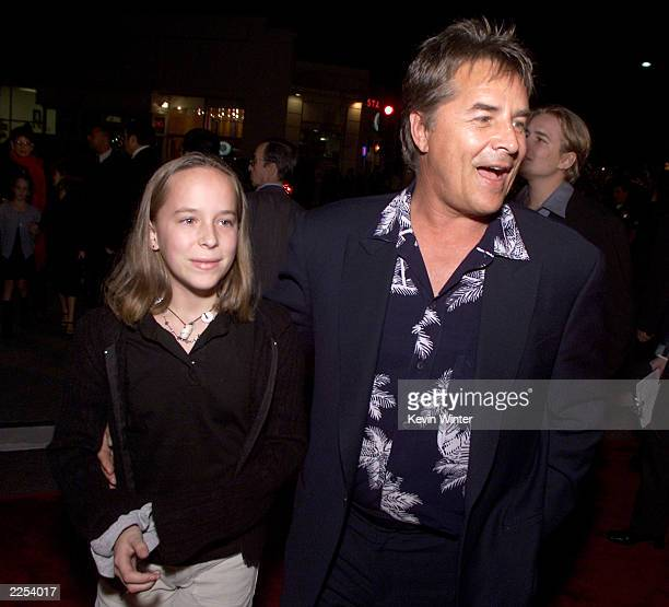 Don Johnson and daughter Dakota at the premiere of Harry Potter and the Sorcerer's Stone in Los Angeles Ca Wednesday November 14 2001 Photo by Kevin...